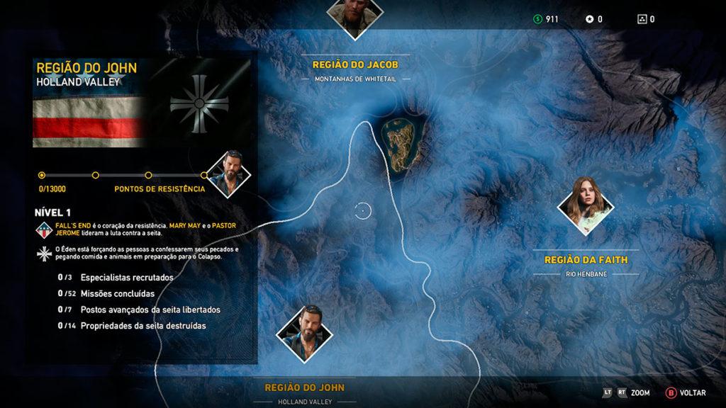 mapa regioes far cry 5